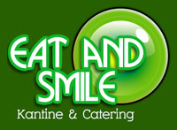 "Logo Kantine Schachtbau<br>""Eat and Smile"""